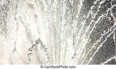 Water in motion. Close up of fountain. Streams of life.