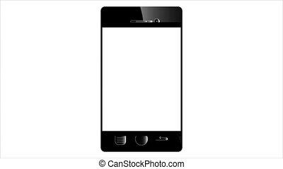 Icon of a black smartphone - Icon of black smartphone,...