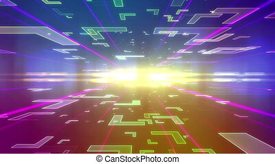 """Future background with different Block Figures"" - ""Colorful..."