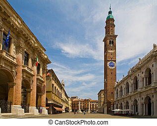 Italy, vicenza, piazza - Central square in vicenza. Italy