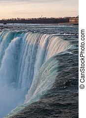 Brink of Niagara Falls - A view of the brink of Niagara...