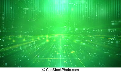 """Business Technology Futuristic Digital Backdrop"" - ""Green..."