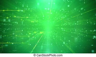 Modern Business Green Cyber motion Background - Light Green...