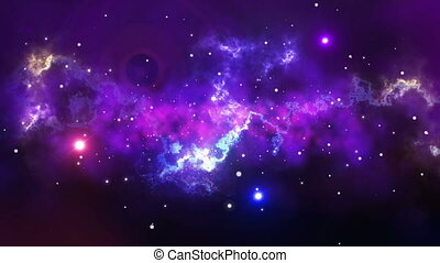 """Flying in Outer Space between stars"" - ""Abstract Flying in..."