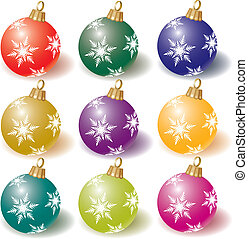 cristmas bal - vector collection of colorful Christmas balls