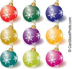 cristmas bal - vector collection of colorful Christmas balls