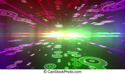 Future colorful background with Circle Figures - Future...