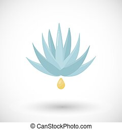 Agave syrup vector flat icon, Flat design superfood and...