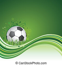 soccer background - soccer sport design element and green...