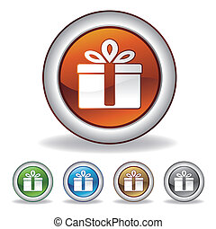 vector gift icon on white background