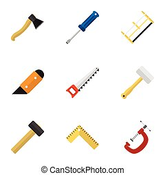 Set Of 9 Editable Apparatus Icons. Includes Symbols Such As...