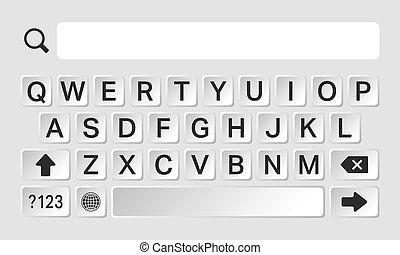 Smartphone keyboard template - Smartphone keyboard, alphabet...