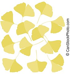 Ginkgo biloba leaves - Vector Illustration ginkgo biloba...