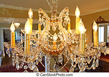 Old chandelier - very beautiful and old chandelier