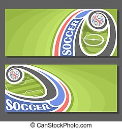 Vector Banners for Soccer: 2 layouts for title on soccer...
