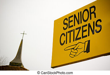 A sign directing senior citizens seems to be encouraging...