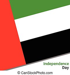 United Arab Emirates independence day with flag vector...