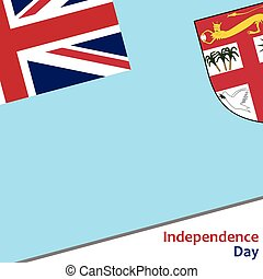 Fiji independence day with flag vector illustration for web