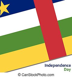 Central African Republic independence day with flag vector...