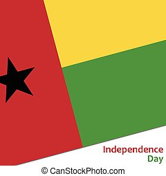 Guinea-Bissau independence day with flag vector illustration...