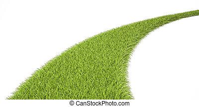 Green Grassy Way, 3D rendering