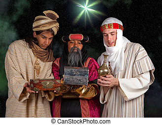 Wisemen gifts - Wisemen Caspar Melchior and Balthasar and...