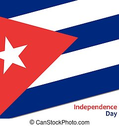Kuba independence day with flag vector illustration for web