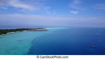 v04620 Aerial flying drone view of Maldives white sandy...