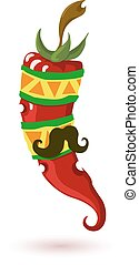 Mexican Chili pepper - Mexican Red chili pepper with a...