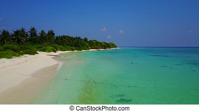 v04616 Aerial flying drone view of Maldives white sandy...