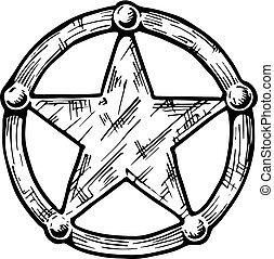 ??????illustration of Sheriff star