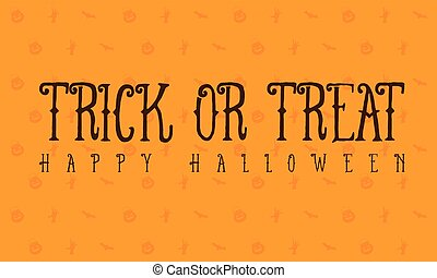 Halloween trick or treat card