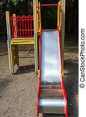Children's slide on the street