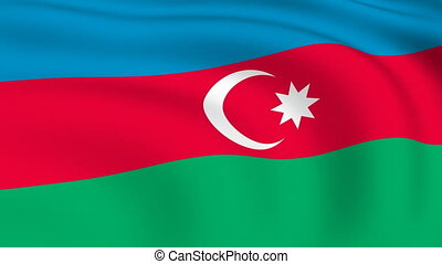 Flying Flag of Azerbaijan | LOOPED |