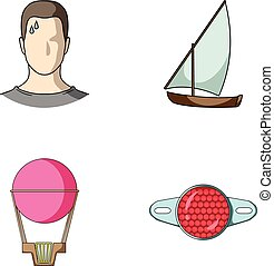 give, business, sport and other web icon in cartoon style. Reflection, bicycle, motorcycle icons in set collection.