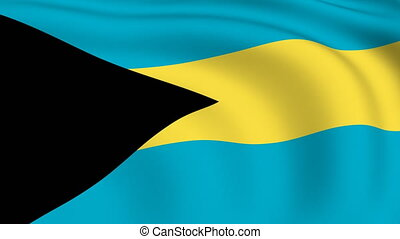 Flying Flag of Bahamas | LOOPED |