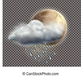Weather icon - Vector illustration of cool single weather...