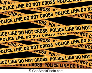 Police Line Cross Tape - Vector Illustration of Police Line...