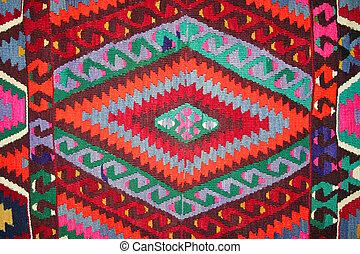 Carpet as background - Turkish antique carpet pattern as...