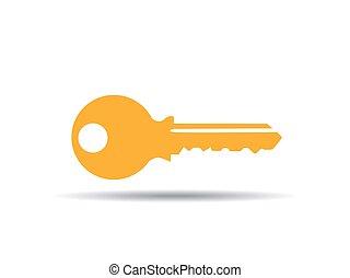 vector illustration of key