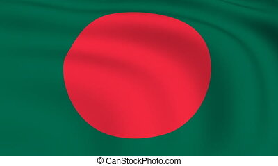 Flying Flag of Bangladesh | LOOPED |