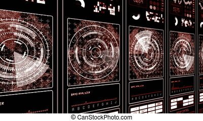HUD Futuristic technological interface background - brown...