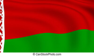 Flying Flag of Belarus | LOOPED |