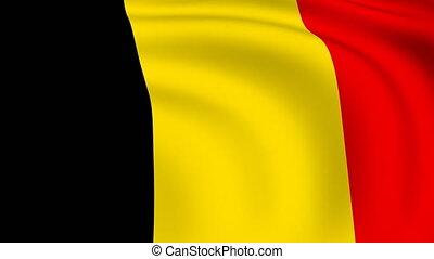 Flying Flag of Belgium   LOOPED  