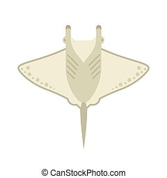 Manta Ray or Stingray Vector Illustration - Cartoon stingray...