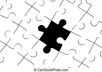 Loss - White puzzles It is a symbol (stereotypes, problems,...