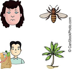 history, trade and other web icon in cartoon style.insects, journey icons in set collection.
