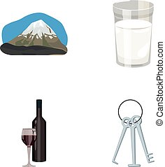 travel, alcohol and other web icon in cartoon style.robbery,...