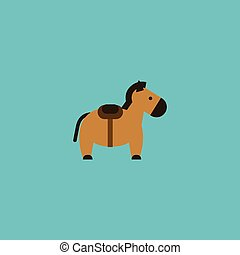 Flat Icon Horse Element. Vector Illustration Of Flat Icon Pony Isolated On Clean Background. Can Be Used As Horse, Pony And Animal Symbols.