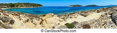 Summer Sithonia coast, Chalkidiki. - Beautiful summer Aegean...